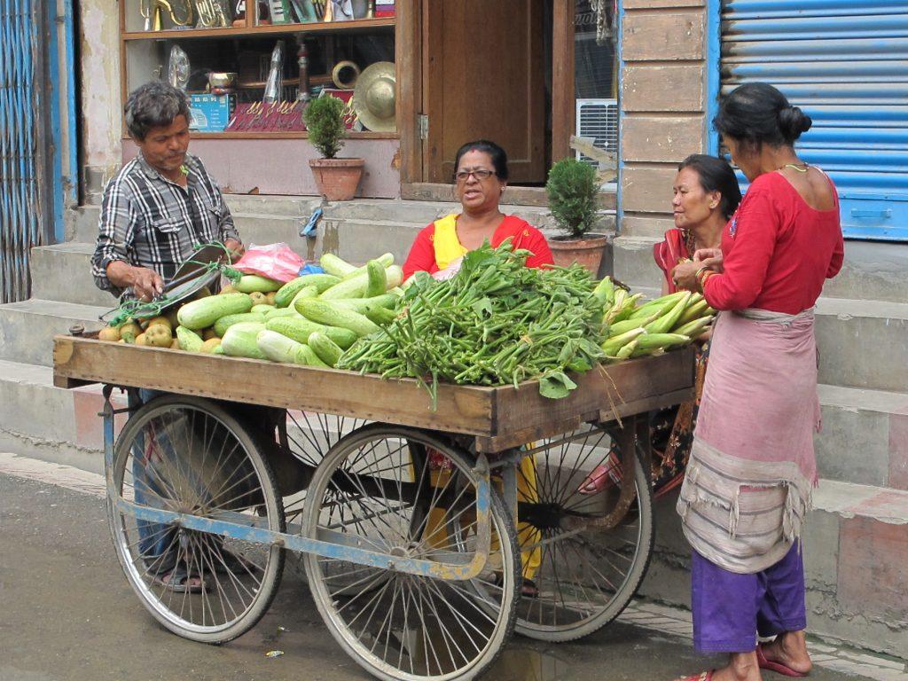 Thamel, el barrio de los mochileros y turistas en Kathmandu. Viajar a Nepal. Valle de Kathmandu