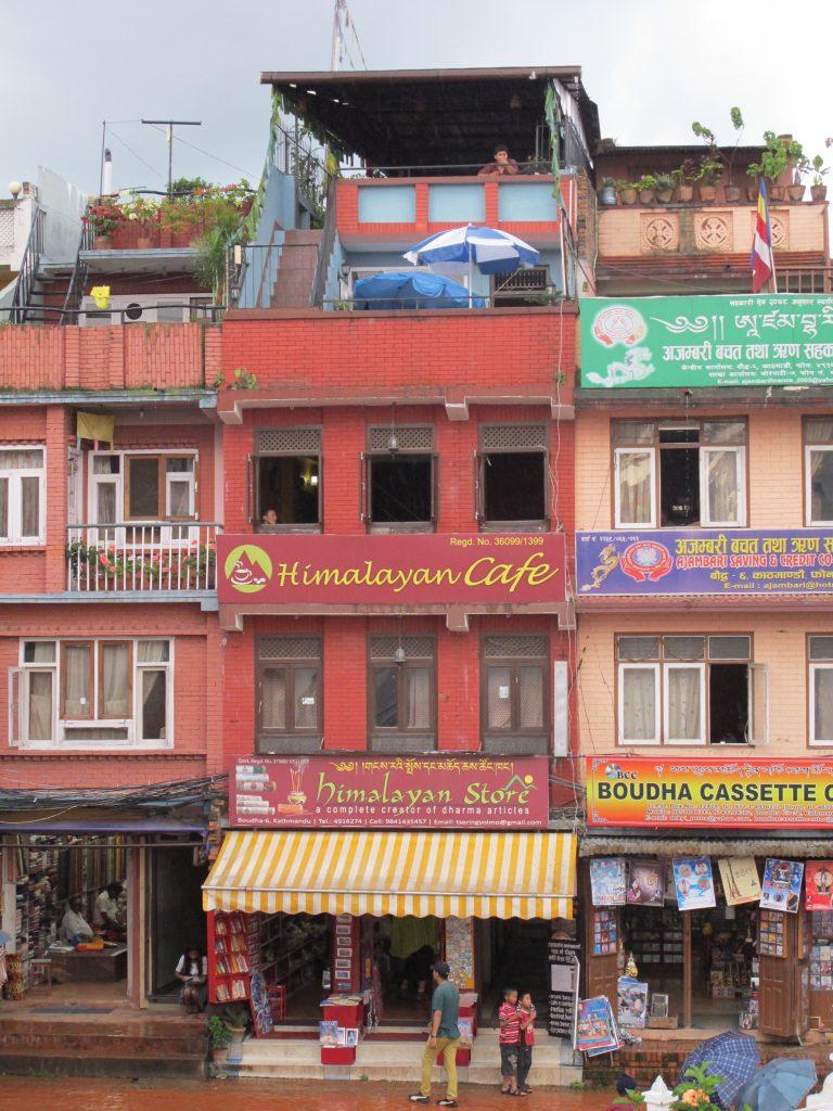 Restaurante en Boudhanath , Kathmandu. Viajar a Nepal