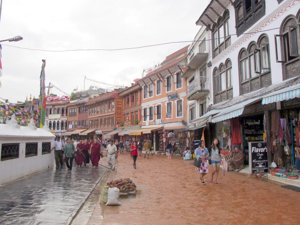 estupa de Boudhanath , Kathmandu. Viajar a Nepal
