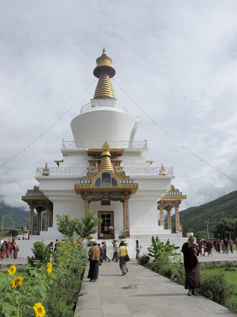 Thimpu Chorten en Butan. Viajar a Bhutan. Viaje a Butan.