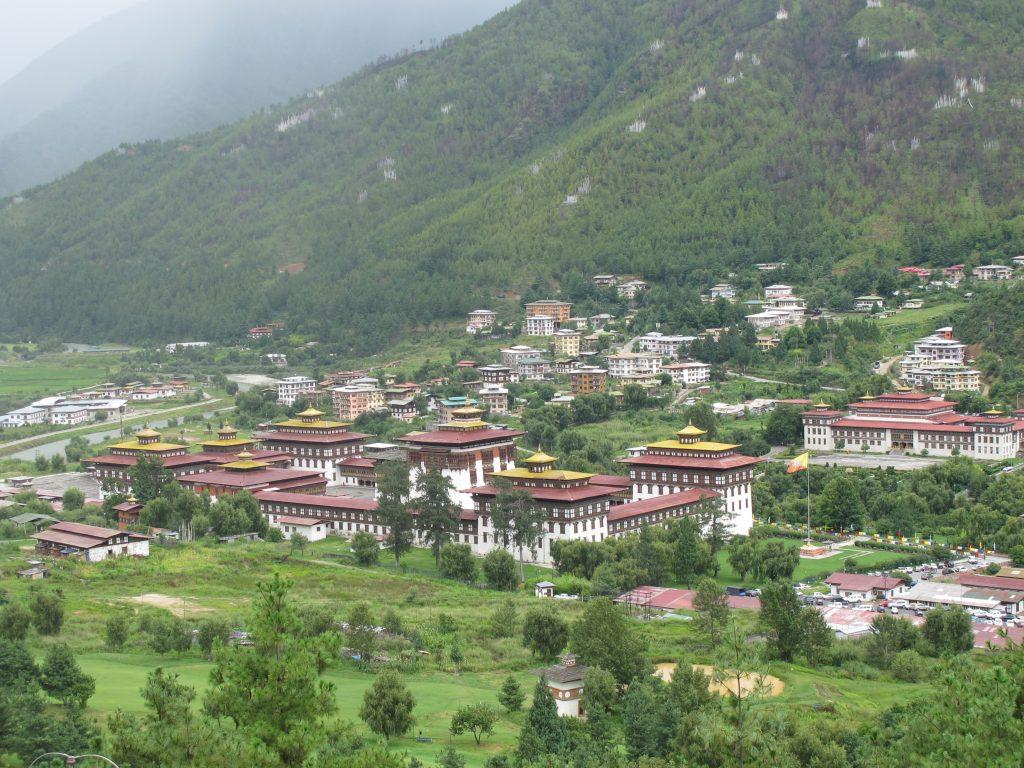 Tashichhoedzong o Dzong Tashichoe en Thimpu. sede del gobierno de Butan. Viaje a Bhutan. Viajar a Butan