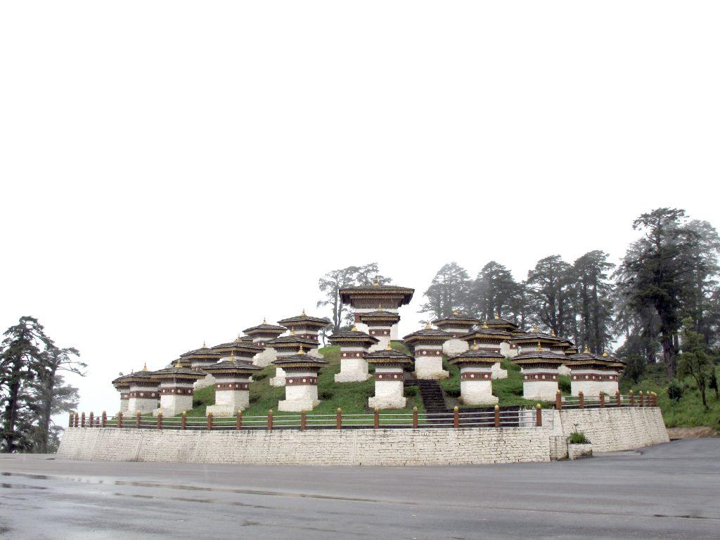 Dochula Pass en Butan. Viajar a Butan. Viaje a Bhutan.