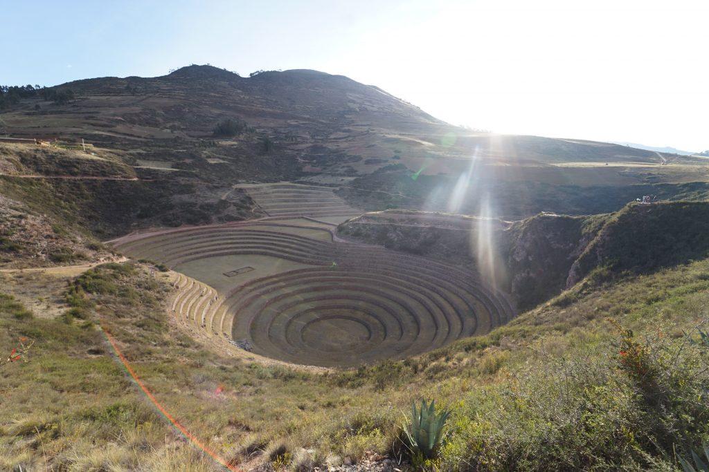 Moray en Perú, centro de experimentación de cultivos.