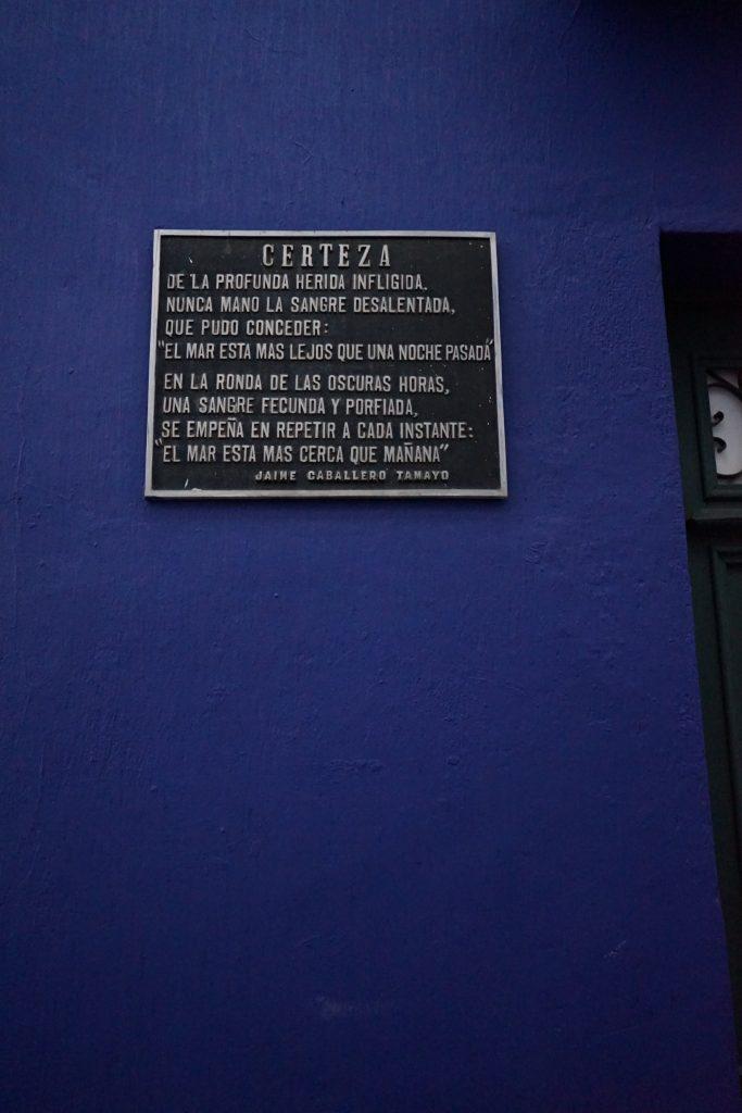 Calle Jaén en La Paz. Bolivia